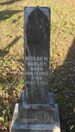 BADLEY, BEULAH M. - Carroll County, Arkansas | BEULAH M. BADLEY - Arkansas Gravestone Photos