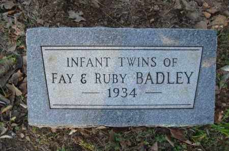BADLEY, INFANT TWINS - Carroll County, Arkansas | INFANT TWINS BADLEY - Arkansas Gravestone Photos