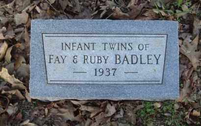 BADLEY, INFANT TWINS - Carroll County, Arkansas | INFANT TWINS BADLEY - Arkansas Gravestone Photos