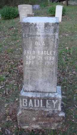 BADLEY, OLA - Carroll County, Arkansas | OLA BADLEY - Arkansas Gravestone Photos