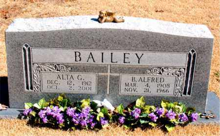 BAILEY, B. ALFRED - Carroll County, Arkansas | B. ALFRED BAILEY - Arkansas Gravestone Photos