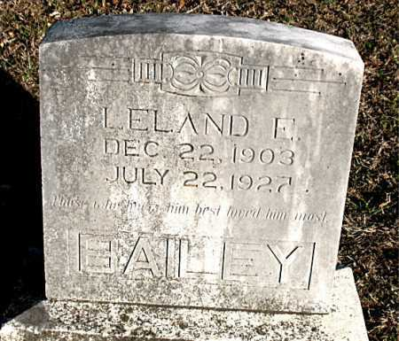 BAILEY, LELAND E. - Carroll County, Arkansas | LELAND E. BAILEY - Arkansas Gravestone Photos