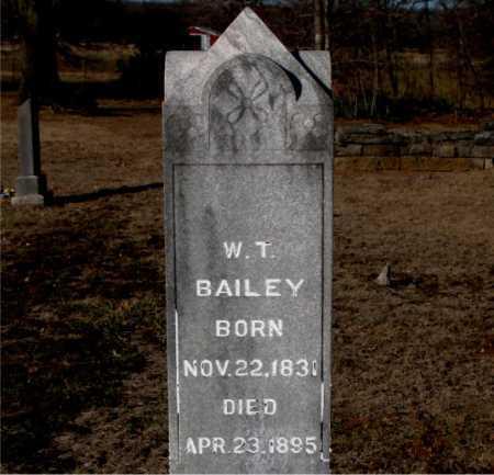 BAILEY, W. T. - Carroll County, Arkansas | W. T. BAILEY - Arkansas Gravestone Photos