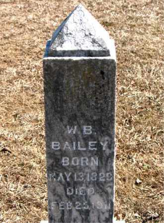 BAILEY, W.  B. - Carroll County, Arkansas | W.  B. BAILEY - Arkansas Gravestone Photos