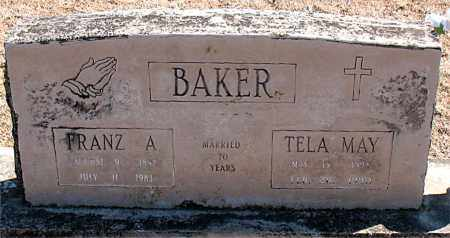 BAKER, FRANZ A. - Carroll County, Arkansas | FRANZ A. BAKER - Arkansas Gravestone Photos