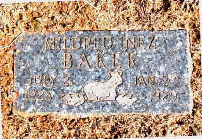 BAKER, MILDRED INEZ - Carroll County, Arkansas | MILDRED INEZ BAKER - Arkansas Gravestone Photos