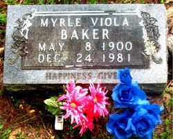 BAKER, MYRLE VIOLA - Carroll County, Arkansas | MYRLE VIOLA BAKER - Arkansas Gravestone Photos