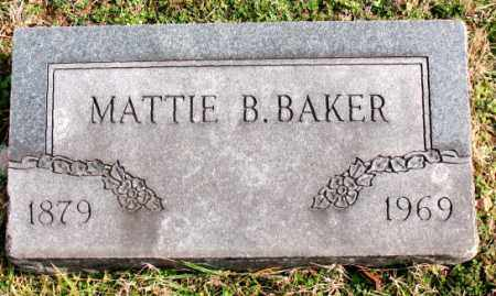BAKER, MATTIE B. - Carroll County, Arkansas | MATTIE B. BAKER - Arkansas Gravestone Photos