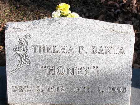 BANTA, THELMA P.  (HONEY) - Carroll County, Arkansas | THELMA P.  (HONEY) BANTA - Arkansas Gravestone Photos