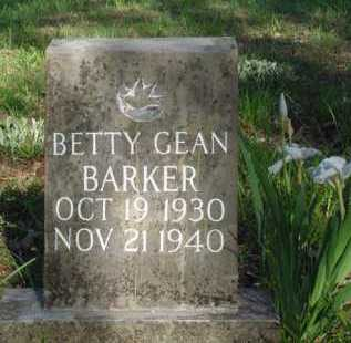 BARKER, BETTY GEAN - Carroll County, Arkansas | BETTY GEAN BARKER - Arkansas Gravestone Photos