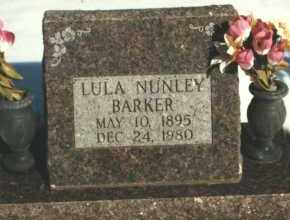 NUNLEY BARKER, LULA AMO - Carroll County, Arkansas | LULA AMO NUNLEY BARKER - Arkansas Gravestone Photos