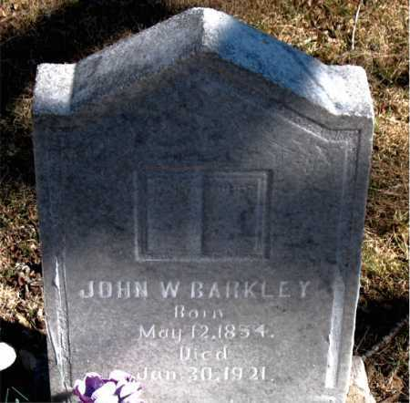 BARKLEY, JOHN W - Carroll County, Arkansas | JOHN W BARKLEY - Arkansas Gravestone Photos
