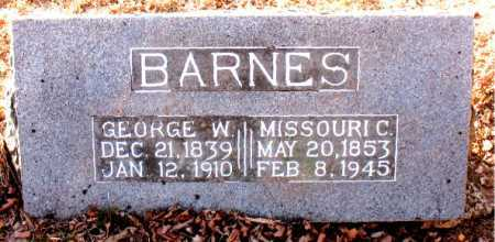 BARNES, MISSOURI C. - Carroll County, Arkansas | MISSOURI C. BARNES - Arkansas Gravestone Photos