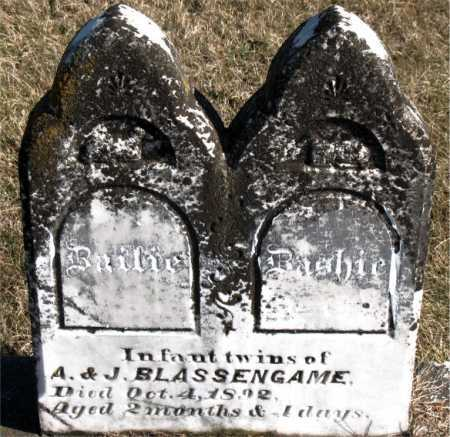 BASSENGAME, INFANT TWINS - Carroll County, Arkansas | INFANT TWINS BASSENGAME - Arkansas Gravestone Photos