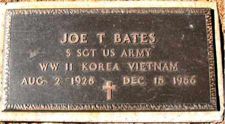 BATES (VETERAN 3 WARS), JOE T - Carroll County, Arkansas | JOE T BATES (VETERAN 3 WARS) - Arkansas Gravestone Photos