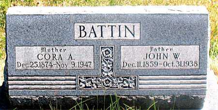 BATTIN, CORA A - Carroll County, Arkansas | CORA A BATTIN - Arkansas Gravestone Photos