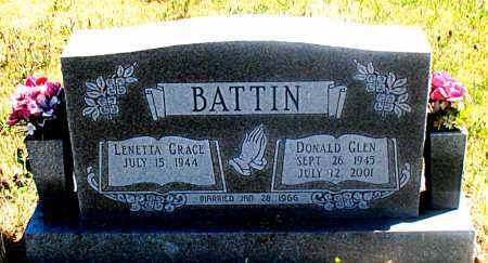 BATTIN, DONALD GLEN - Carroll County, Arkansas | DONALD GLEN BATTIN - Arkansas Gravestone Photos