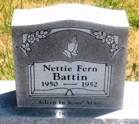 BATTIN, NETTIE FERN - Carroll County, Arkansas | NETTIE FERN BATTIN - Arkansas Gravestone Photos