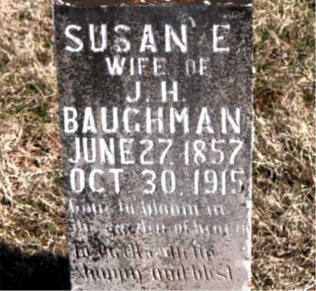BAUGHMAN, SUSAN E - Carroll County, Arkansas | SUSAN E BAUGHMAN - Arkansas Gravestone Photos