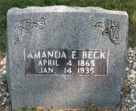 BECK, AMANDA E. - Carroll County, Arkansas | AMANDA E. BECK - Arkansas Gravestone Photos