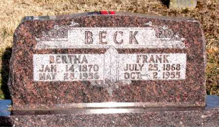 BECK, FRANK - Carroll County, Arkansas | FRANK BECK - Arkansas Gravestone Photos