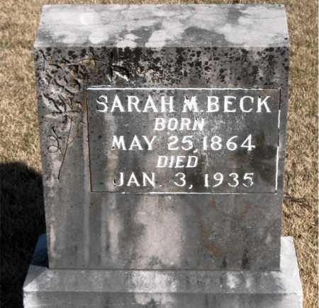 BECK, SARAH M - Carroll County, Arkansas | SARAH M BECK - Arkansas Gravestone Photos