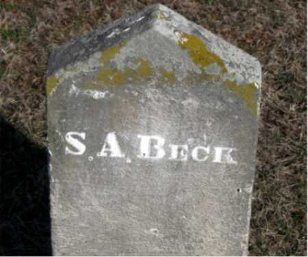 BECK, S A - Carroll County, Arkansas | S A BECK - Arkansas Gravestone Photos