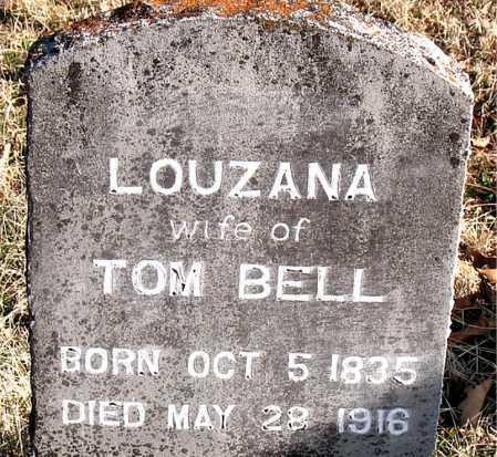 BELL, LOUZANA - Carroll County, Arkansas | LOUZANA BELL - Arkansas Gravestone Photos