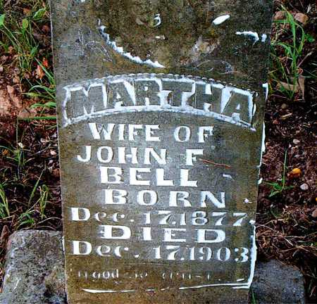 BELL, MARTHA - Carroll County, Arkansas | MARTHA BELL - Arkansas Gravestone Photos