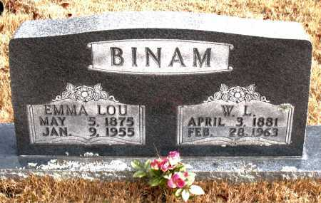 BINAM, EMMA  LOU - Carroll County, Arkansas | EMMA  LOU BINAM - Arkansas Gravestone Photos