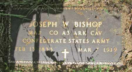 BISHOP  (VETERAN CSA), JOSEPH  W - Carroll County, Arkansas | JOSEPH  W BISHOP  (VETERAN CSA) - Arkansas Gravestone Photos