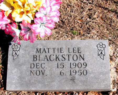 BLACKSTON, MATTIE LEE - Carroll County, Arkansas | MATTIE LEE BLACKSTON - Arkansas Gravestone Photos