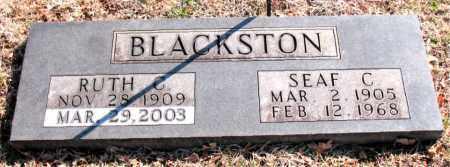 BLACKSTON, SEAF C. - Carroll County, Arkansas | SEAF C. BLACKSTON - Arkansas Gravestone Photos