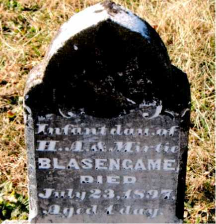 BLASENGAME, INFANT DAUGHTER - Carroll County, Arkansas | INFANT DAUGHTER BLASENGAME - Arkansas Gravestone Photos