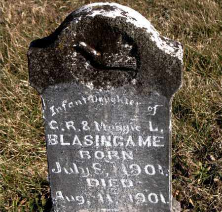 BLASINGAME, INFANT DAUGHTER - Carroll County, Arkansas | INFANT DAUGHTER BLASINGAME - Arkansas Gravestone Photos