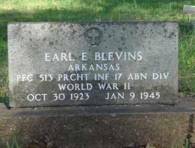 BLEVINS  (VETERAN WWII), EARL E. - Carroll County, Arkansas   EARL E. BLEVINS  (VETERAN WWII) - Arkansas Gravestone Photos