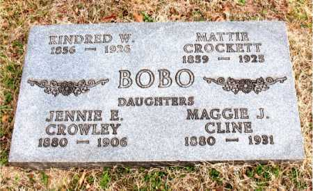 BOBO CROWLEY, JENNIE E. - Carroll County, Arkansas | JENNIE E. BOBO CROWLEY - Arkansas Gravestone Photos