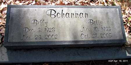 BOHANNAN, BILLY - Carroll County, Arkansas | BILLY BOHANNAN - Arkansas Gravestone Photos