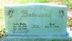 BOHANNAN, LULA BELLE - Carroll County, Arkansas | LULA BELLE BOHANNAN - Arkansas Gravestone Photos