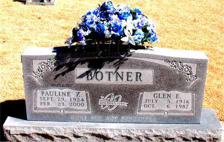 BOTNER, PAULINE  Z. - Carroll County, Arkansas | PAULINE  Z. BOTNER - Arkansas Gravestone Photos