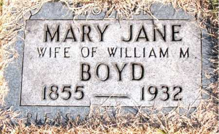 BOYD, MARY JANE - Carroll County, Arkansas | MARY JANE BOYD - Arkansas Gravestone Photos