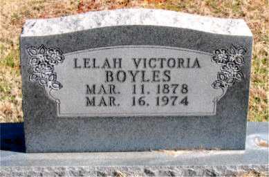 BOYLES, LELAH VICTORIA - Carroll County, Arkansas | LELAH VICTORIA BOYLES - Arkansas Gravestone Photos