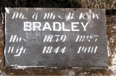 BRADLEY, MR B.K.W. - Carroll County, Arkansas | MR B.K.W. BRADLEY - Arkansas Gravestone Photos