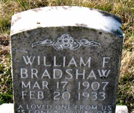 BRADSHAW, WILLIAM  F. - Carroll County, Arkansas | WILLIAM  F. BRADSHAW - Arkansas Gravestone Photos