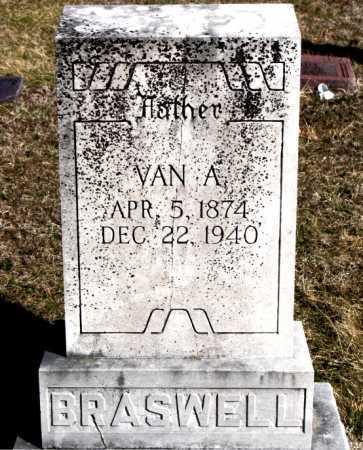BRASWELL, VAN A - Carroll County, Arkansas | VAN A BRASWELL - Arkansas Gravestone Photos
