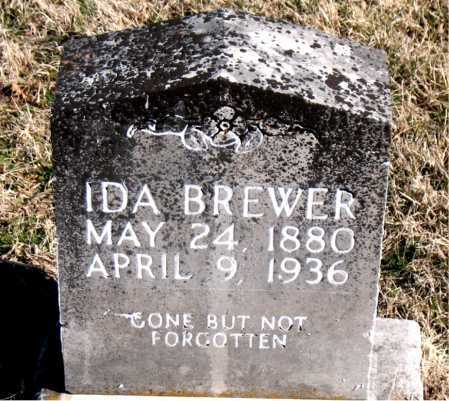 BREWER, IDA - Carroll County, Arkansas | IDA BREWER - Arkansas Gravestone Photos