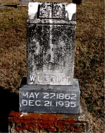 BRITT, W.L. - Carroll County, Arkansas | W.L. BRITT - Arkansas Gravestone Photos