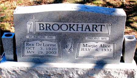 BROOKHART, REX DE'LORME - Carroll County, Arkansas | REX DE'LORME BROOKHART - Arkansas Gravestone Photos