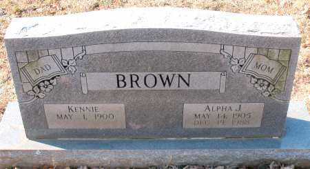 BROWN, ALPHA J. - Carroll County, Arkansas | ALPHA J. BROWN - Arkansas Gravestone Photos