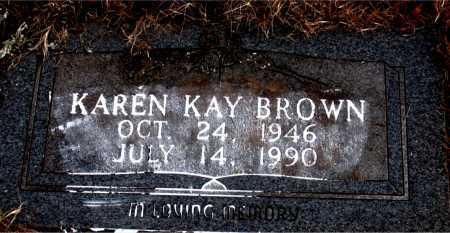 BROWN, KAREN  KAY - Carroll County, Arkansas | KAREN  KAY BROWN - Arkansas Gravestone Photos